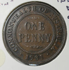 "1931 ""Plain"" Penny Indian Die Obv. VF"
