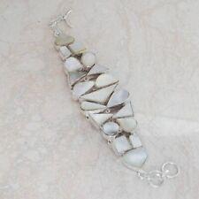 Excellent Mother Of Pearl Handmade Big Bracelet 44 Gms LBB-430