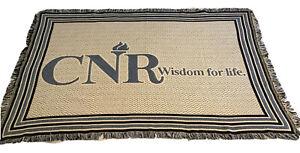 CNR (College Of New Rochelle) Wisdom For Life Fringe Woven Blanket Throw 72 X 48