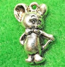 50Pcs. Wholesale Tibetan Silver Cute Mickey Mouse Charms Earring Drops Q1190