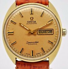 Omega Seamaster Cosmic gold plated day and date automatic stainless steel gents