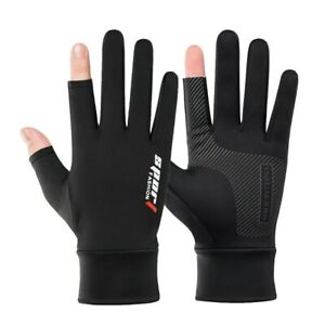 Ice Silk Fishing Gloves for Men and Women - Protective, 2-Cut Fingers, Anti-slip
