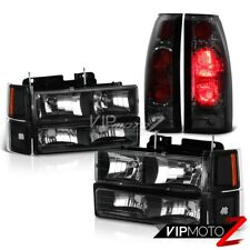 Complete Headlight+Smoke Brake Lamp Tail Light 94-98 Chevy Silverado Suburban