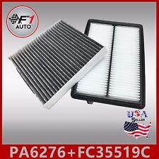 FA6276 FC35519C(CARBON) PREMIUM ENGINE & CABIN AIR FILTER for 2013-17 ACURA RDX