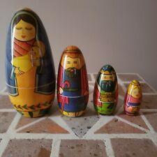 Nesting Dolls Nativity Scene 4 Piece 5 In