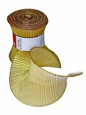 "Celebrate It Gold Spiral Wired Ribbon.5""x15' Christmas Pleated Shimmer"