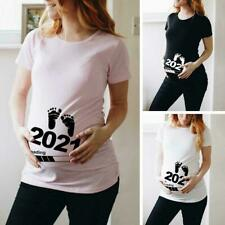 Baby Loading 2021 Printed Pregnant Maternity Short Clothes T Shirts Sleeve I0I0