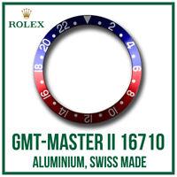 ♛ ROLEX GMT Master II 'Pepsi' Bezel Insert Aluminium Swiss Made For GMT 16710 ♛