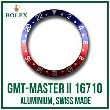 ♛ 'Pepsi' Bezel Insert Aluminium High Grade For ROLEX GMT Master II - 16710 ♛