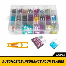 220Pc Car Blade Fuse Assortment Assorted Kit Blade Set Auto Truck Automotive EAF