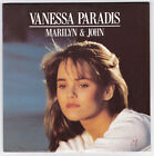 45 TOURS VANESSA PARADIS MARILYN ET JOHN POLYDOR 887 640-7 en 1988