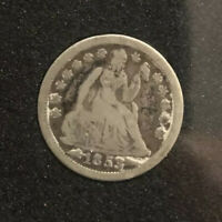 1853 10c Seated Liberty Dime with arrows - XF