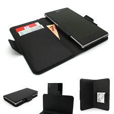 Universal Smartphone Handy Tasche mit Kartenfach Hülle Etui Schwarz | Größe M-XL