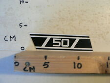 STICKER,DECAL 50 YAMAHA ? WHITE NUMBERS AND STRIPES OR ZUNDAPP ? E