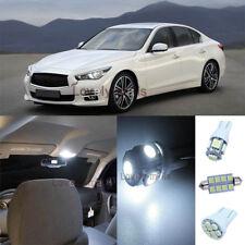 White Lights Interior LED Package Kit For Infiniti G35/G37/Q50 2007-2014 17pc