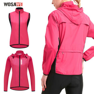 Women Cycling Windproof Jacket Lightweight Running MTB Bike Racing Sports Gilet