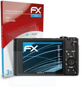 atFoliX 3x Displayschutzfolie für Sony DSC-HX95 Schutzfolie klar Folie