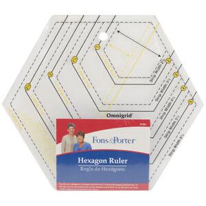 "Fons & Porter Hexagon Ruler - 2"" To 6"" & 1"" To 3"""