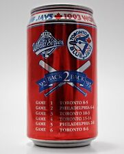 Coca Cola Coke 1992 1993 Toronto Blue Jays World Series Champs Can Advertising
