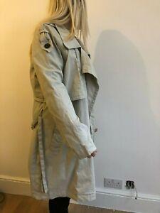 £170 NEW Firetrap XL 16 sanderson long beige Military Mac Trench Coat SALE!