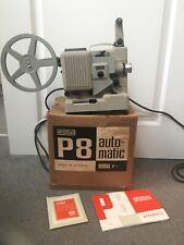 Vtg 60s EUMIG P8 AUTO-MATIC Standard 8mm Cine Film PROJECTOR+INSTRUCTIONS+BOX