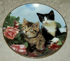 Danbury Mint Rose Buddies Plate Guy Withers Purrfect Portraits Kittens Cats