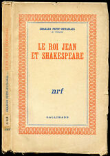 Charles Petit-Dutaillis : LE ROI JEAN ET SHAKESPEARE - 1944. Theatre