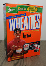 Vintage Wheaties Cereal w/Tiger Woods & EA Sports 12 Oz Full Box Factory Sealed