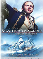 MASTER AND COMMANDER FAR SIDE OF THE WORLD (DVD, 2004, Full Screen) NEW
