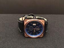 Invicta Men's 16165 Corduba Blue Dial Quartz Black Leather Watch