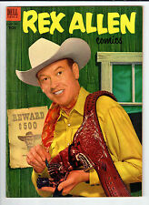 Dell Rex Allen #8 March-May 1953 vintage comic VG/FN photo front & back covers