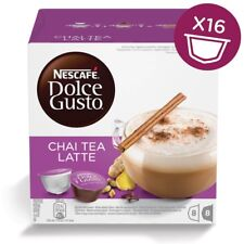 Nescafe Dolce Gusto Chai Tea Latte Coffee and Milk, 16 Pods, 8 Drinks