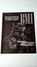 Zz Top Bmi Proud To Be In Your Flight Crew. Rare Original Print Promo Poster Ad