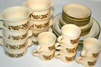1960's Vintage Retro Staffordshire Kiln Craft ENGLAND Crockery Dinner Set Plates