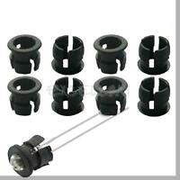 New 5mm Black Plastic LED Panel Holders Clips Bezels Mounts 50Pcs