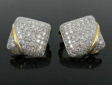 2.13CT BRILLIANTCUT DIAMOND 14K SOLID YELLOW GOLD ANNIVERSARY CUFF LINK FOR MEN