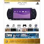 Sony PlayStation Portable PSP 3000 Piano Blak Handheld Core Pack Game System VGC