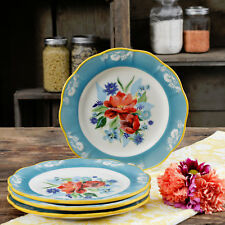 The Pioneer Woman 8.9  In. Salad Plates Spring Bouquet Set Of 4 New  Spring 2018
