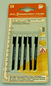 German High Quality Jigsaw Blades Compatible with Black + Decker A5033 Pack of 5