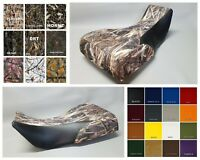 Yamaha Grizzly 700 Seat Cover 2-tone DRT CAMO w/ Black sides OR 25 Colors
