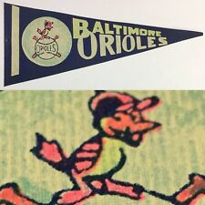 1960s Baltimore Orioles Mini Pennant Mlb Baseball 3.75x9 Maryland O's Vintage