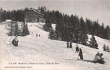 R250133 Montana s. Sierre en hiver. Hotel du Parc. J. J. 7389. Jullien freres