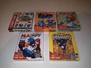 Baku Baku Animals + columns + Puyo Puyo + Mappy + Woody POP Game Gear Sega Gameg
