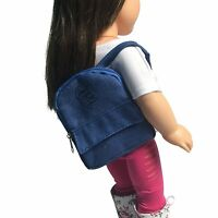 Denim Doll Backpack For 18 inch Doll - Pink Doll Backpack Fits 18 Inch Dolls