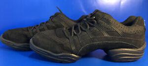 Capezio Rockit Womens Mesh & Sued Synthetic Dance Sneaker Size 9.5 Black