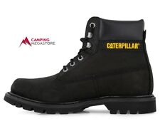 CAT MENS COLORADO LEATHER BOOT - BLACK NUBUCK -SIZE USA 9
