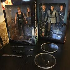 "NECA Terminator 7"" Tech Noir T-800 & Sarah Conner Figure Lot of 2"