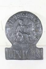 More details for vintage english norwich union insurance fire brigade lead fire mark plaque repro