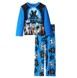 Starwars Boys 2 Piece Long Sleeve Blue Pajama Set Size 4