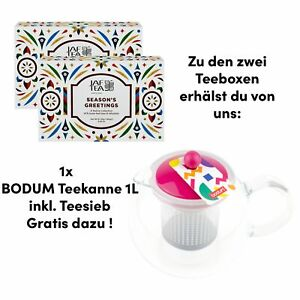 2x Tee Losertee Collection 360g Geschenk Set Geschenkbox Bodum Teekanne Gratis